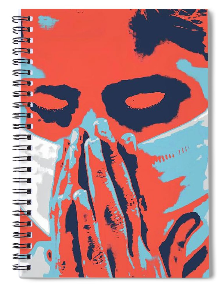 Prayer Spiral Notebook featuring the painting Prayers of Innocence by Jack Bunds