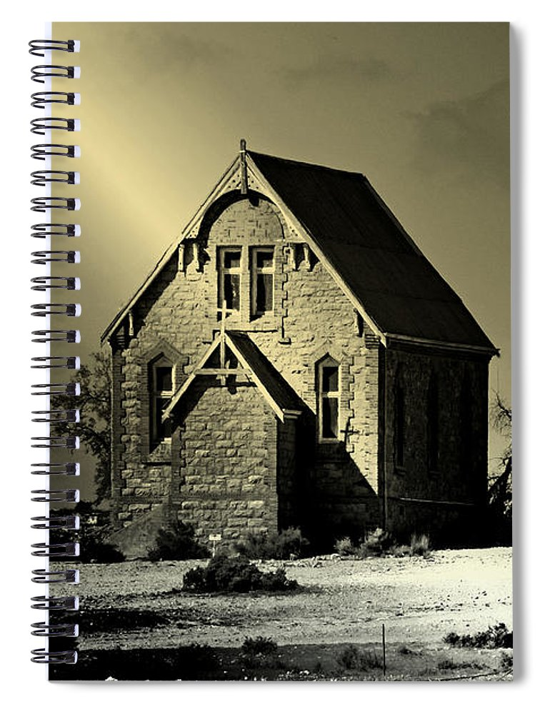 Church Spiral Notebook featuring the photograph Praying for Rain by Holly Kempe