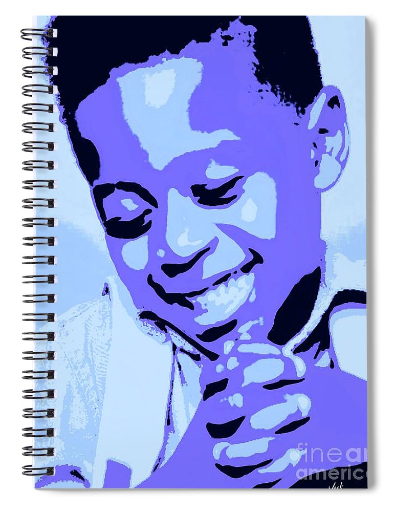 Pray Spiral Notebook featuring the painting Precious Prayers by Jack Bunds