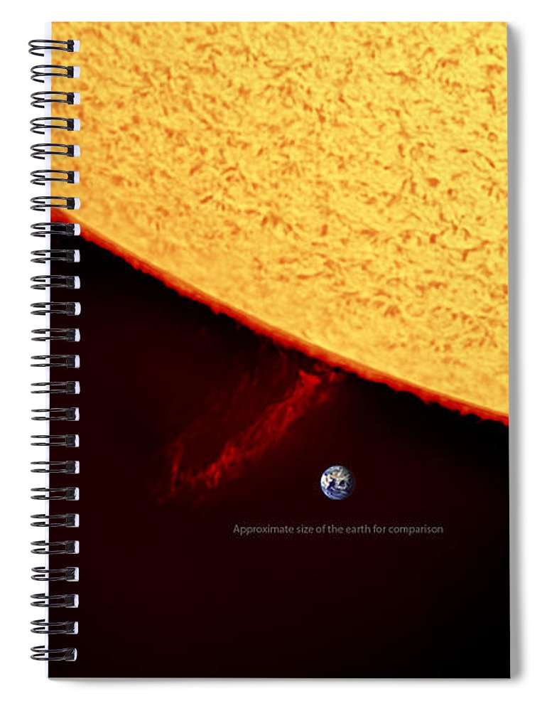 Solarprominence Spiral Notebook featuring the photograph Prominence by Prabhu Astrophotography