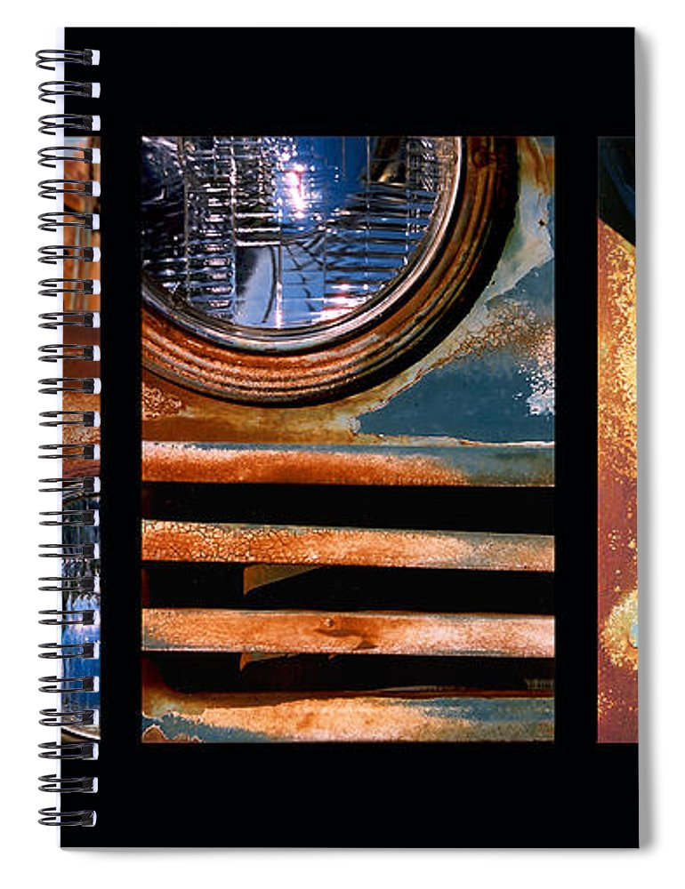 Abstract Spiral Notebook featuring the photograph Red Head On by Steve Karol