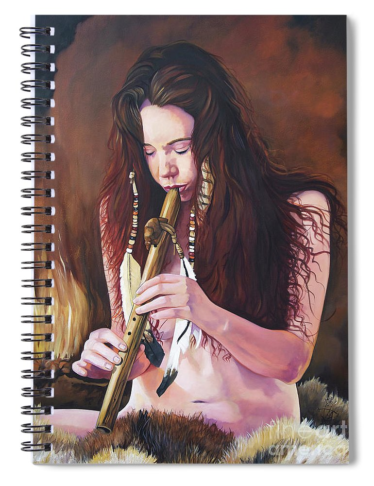 Southwest Art Spiral Notebook featuring the painting Release by J W Baker