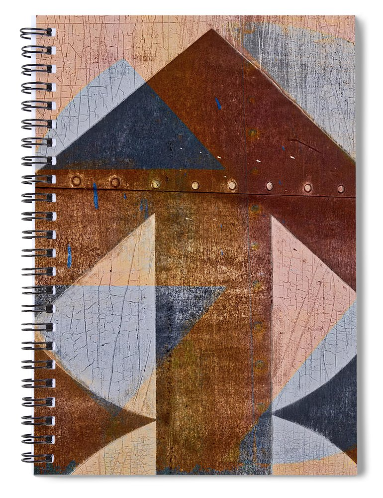 Carol Leigh Spiral Notebook featuring the mixed media Rusty Arrow Number 1 by Carol Leigh