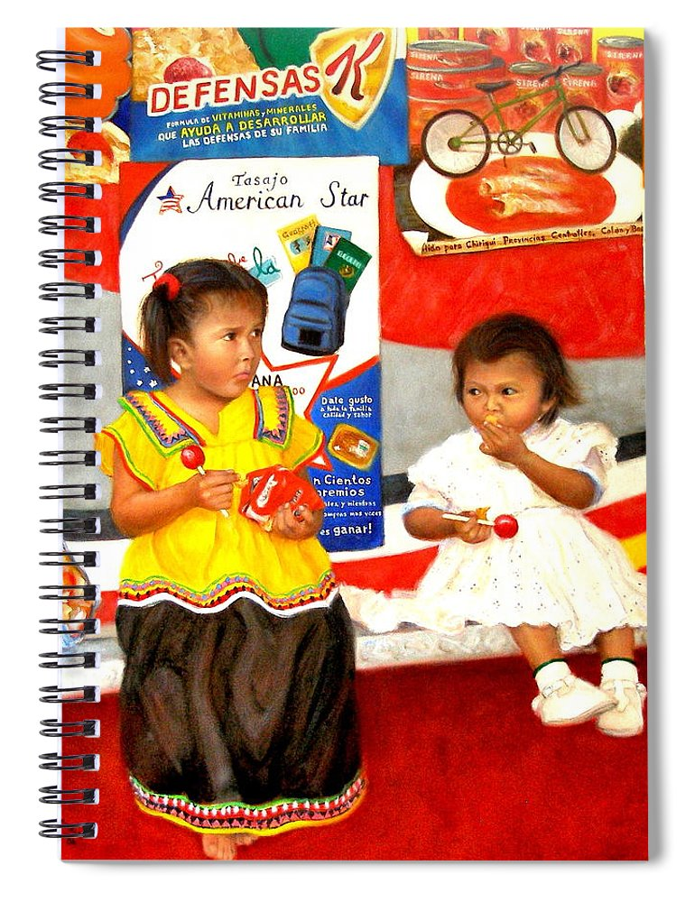 Realism Spiral Notebook featuring the painting Same by Donelli DiMaria