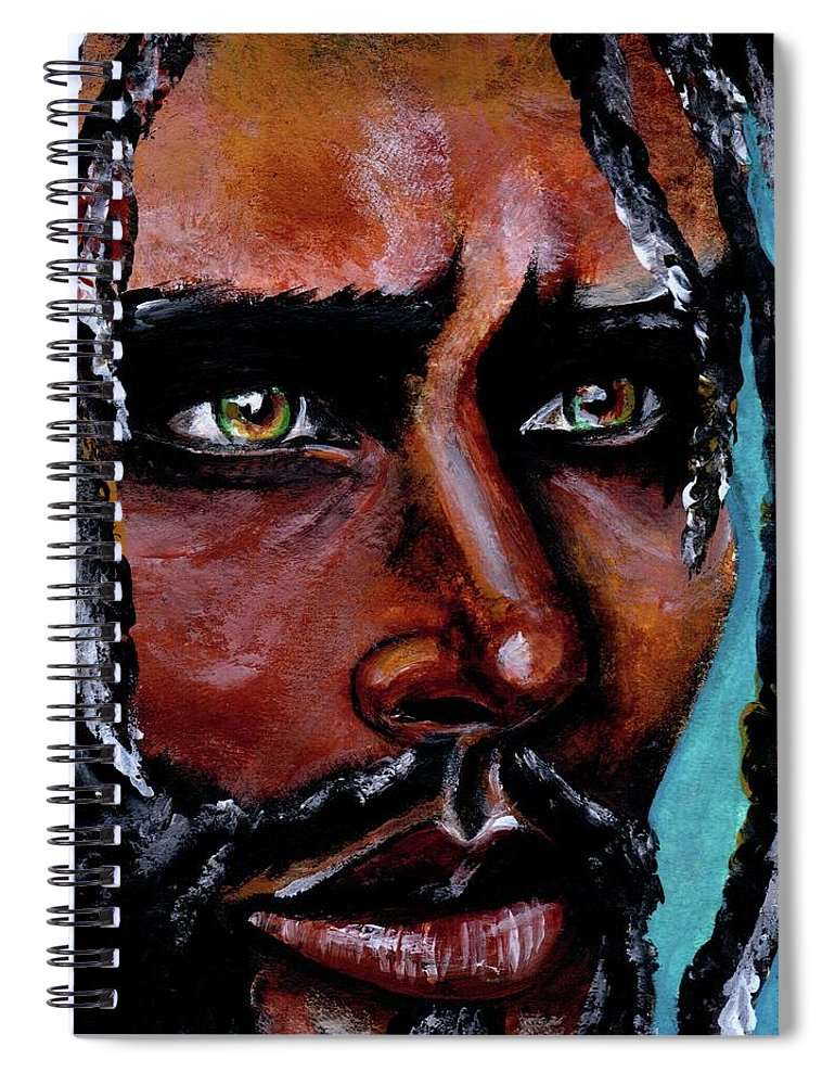 Eyes Spiral Notebook featuring the painting Selfless Life by Artist RiA