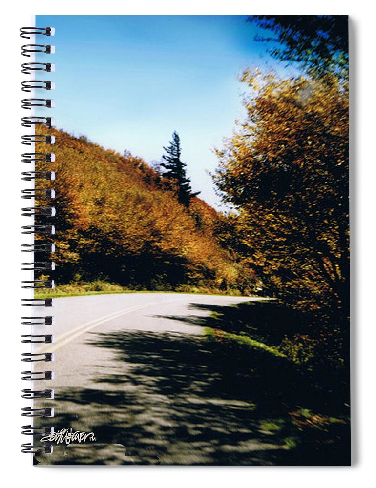 High In The Great Smoky Mtn. As You Round A Curve Stands This Noble Spruce. Spiral Notebook featuring the photograph Single Spruce by Seth Weaver