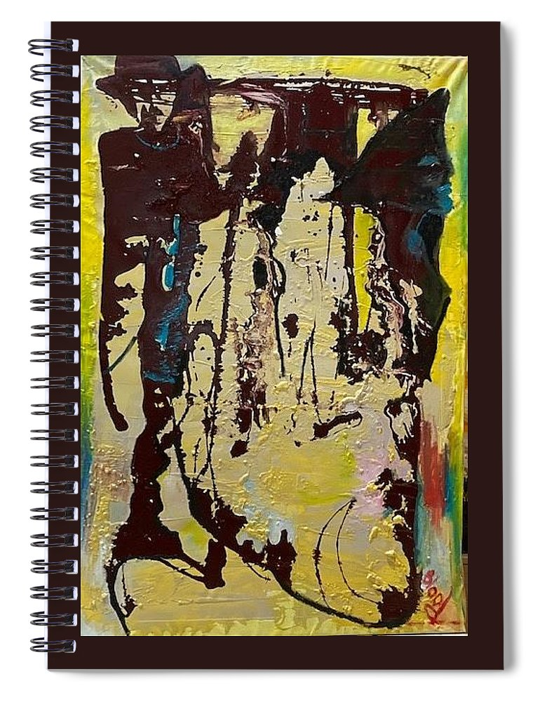 Women Spiral Notebook featuring the painting Sisters by Peggy Blood