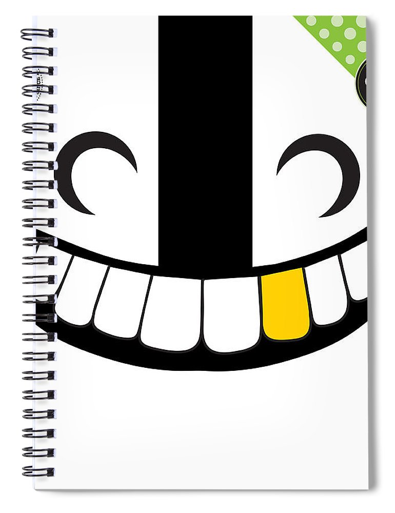 Art Of The Parade Society Spiral Notebook featuring the digital art Skeleton Krewe by Art of the Parade Society
