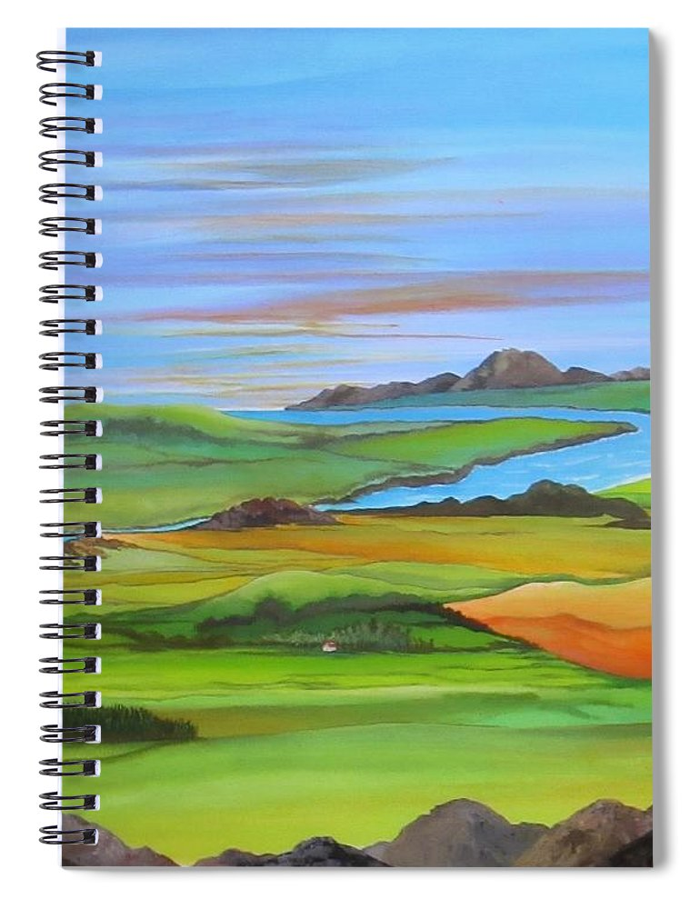Scotland Spiral Notebook featuring the painting Somewhere In Scotland by Carol Sabo
