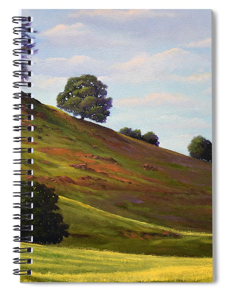 Landscape Spiral Notebook featuring the painting Spring Day by Frank Wilson