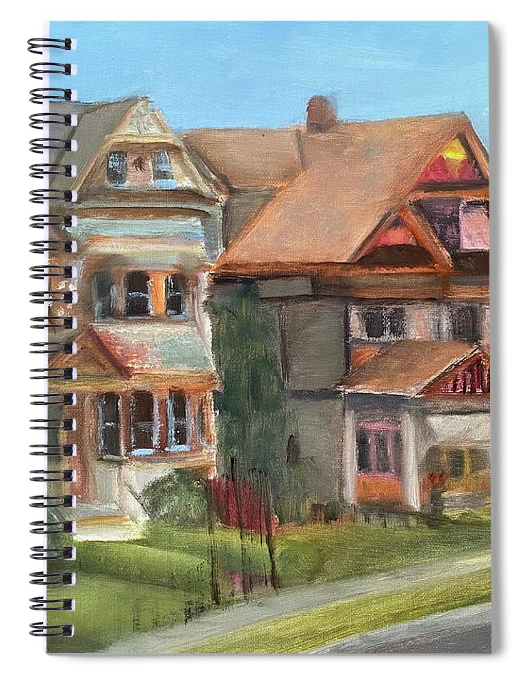 Stockton Street Spiral Notebook featuring the painting Stockton Street by Sheila Mashaw