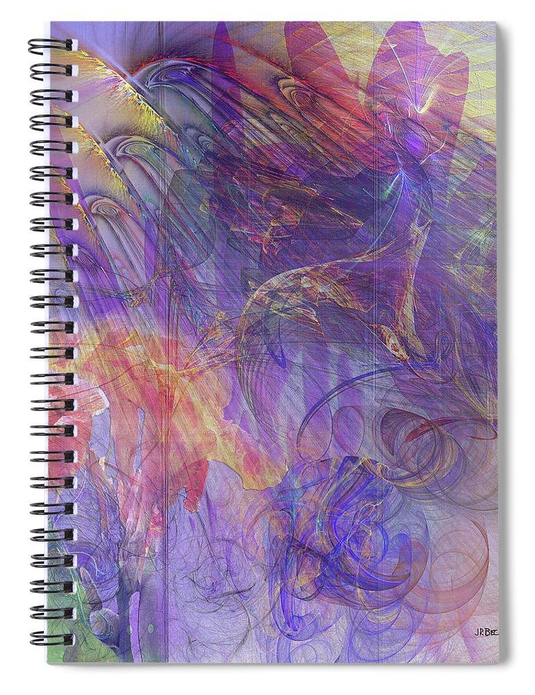 Summer Awakes Spiral Notebook featuring the digital art Summer Awakes by John Robert Beck