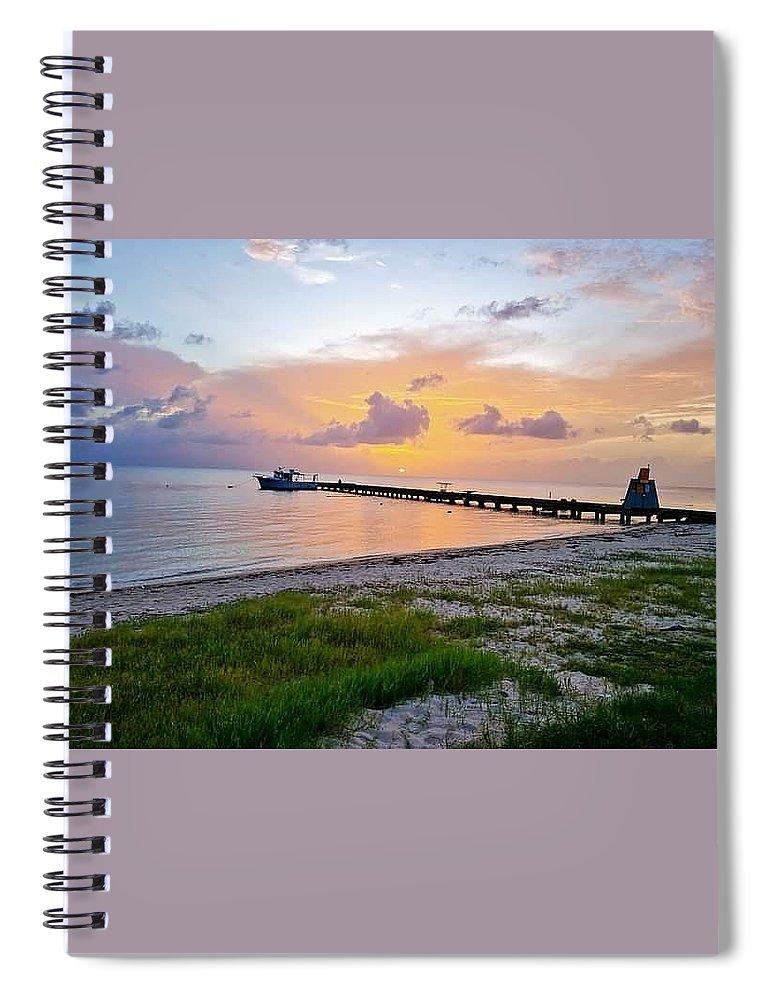 Sunset Spiral Notebook featuring the photograph Sunset at the beach by De Aventureo