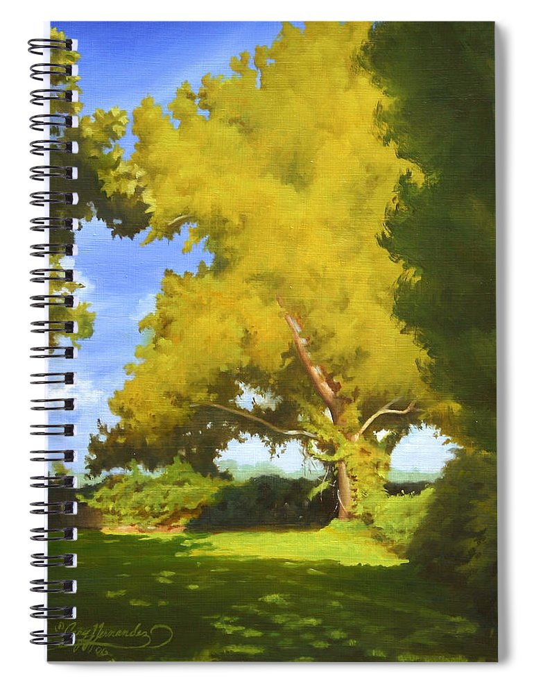 Sycamore Tree Spiral Notebook featuring the painting Sycamore by Gary Hernandez