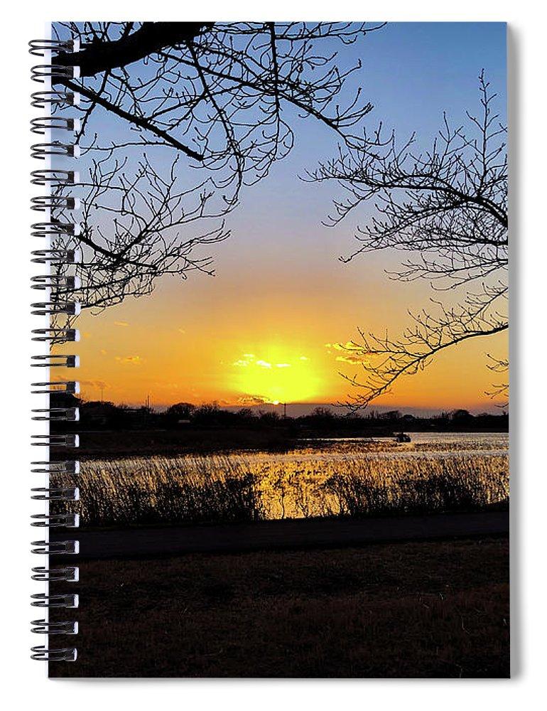 Sunset Spiral Notebook featuring the photograph Tatebayashi Sunset by Kiyoto Matsumoto