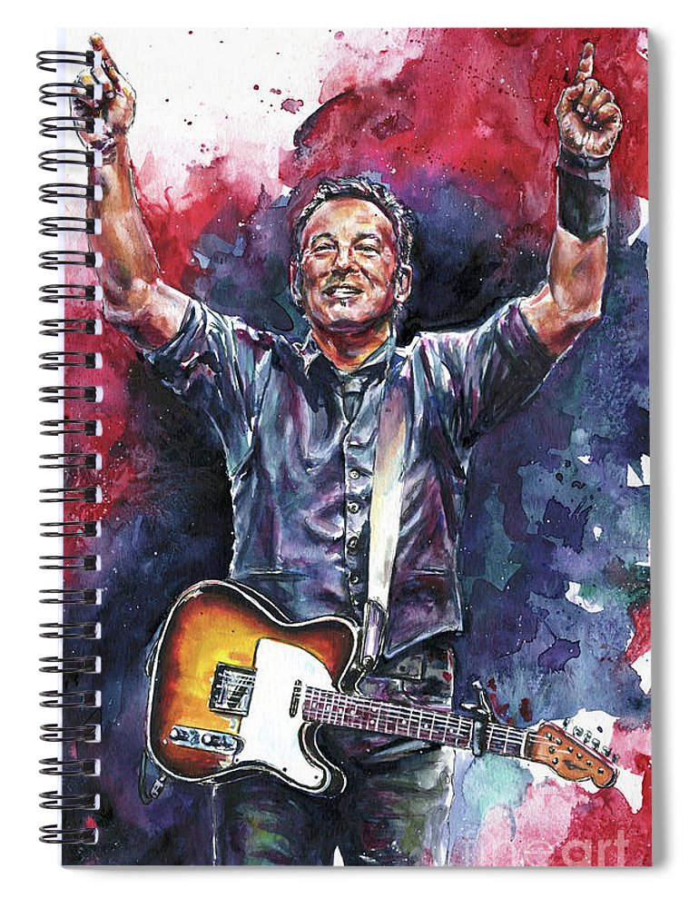 Chris Cornell Spiral Notebook featuring the painting The Boss by Nate Michaels