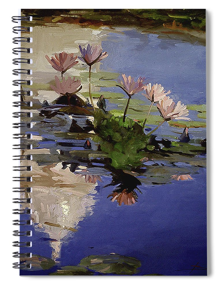 Water Lilies Spiral Notebook featuring the painting The Dome - Water Lilies by Betty Jean Billups