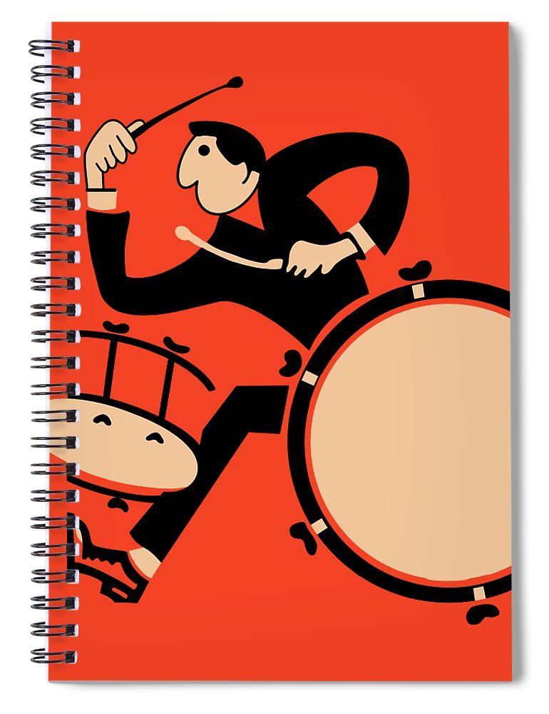 Drum Spiral Notebook featuring the photograph The Drummer by Mark Rogan