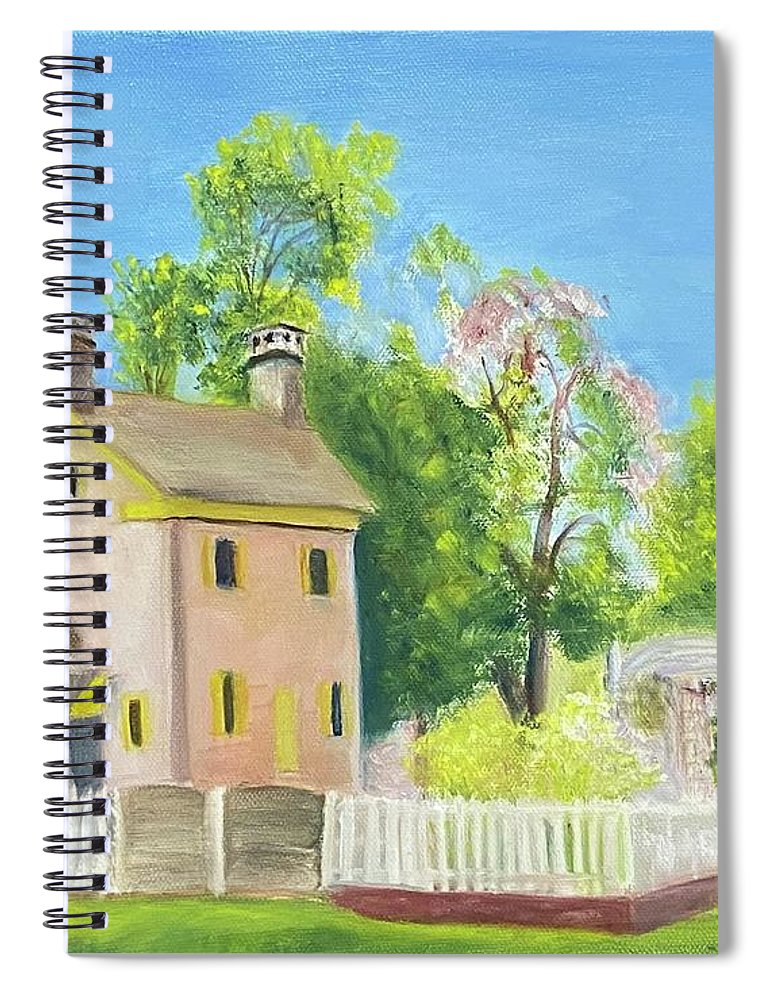 Hibbs House Spiral Notebook featuring the painting The Hibbs House by Sheila Mashaw