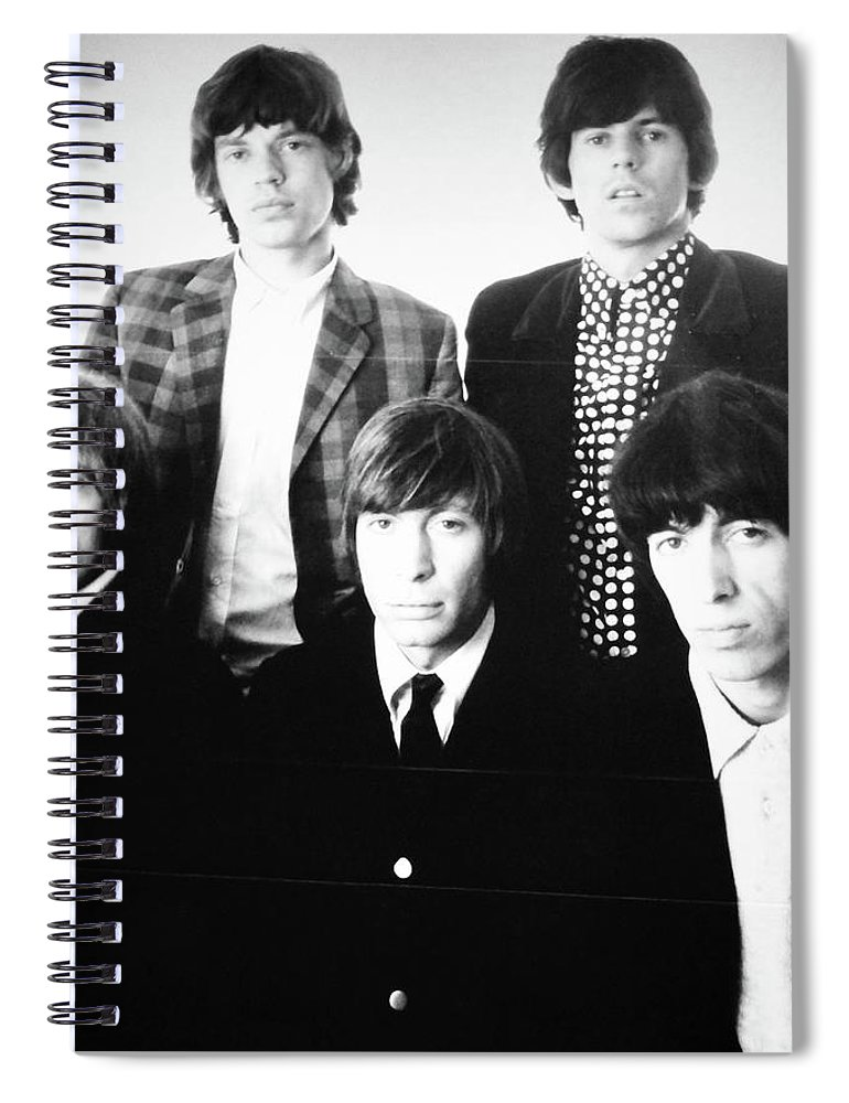 Rolling Stones Spiral Notebook featuring the photograph The Rolling Stones by Kenneth Summers
