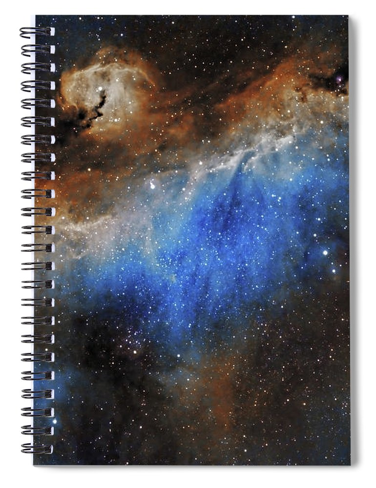 Astronomy Spiral Notebook featuring the photograph The Seagull Nebula by Prabhu Astrophotography