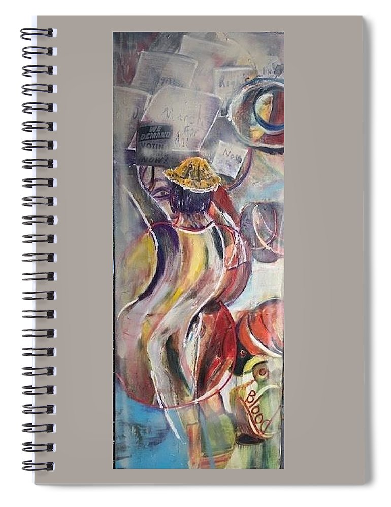 Demonstration Spiral Notebook featuring the painting The Time is Now by Peggy Blood