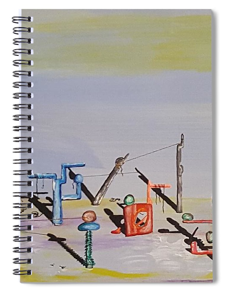 Surrealism Spiral Notebook featuring the painting The Way We Were by Quintus Curtius
