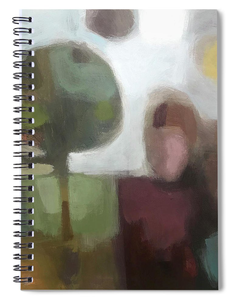 Landscape Spiral Notebook featuring the painting Together by Farhan Abouassali