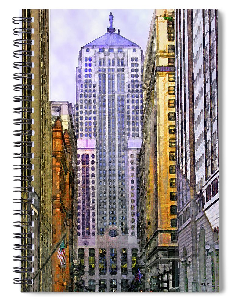 Trading Places Spiral Notebook featuring the digital art Trading Places by John Robert Beck