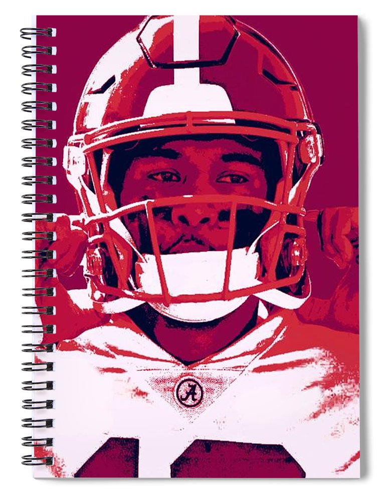 Tua Spiral Notebook featuring the painting Tua by Jack Bunds