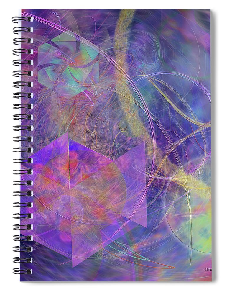 Turbo Blue Spiral Notebook featuring the digital art Turbo Blue by Studio B Prints