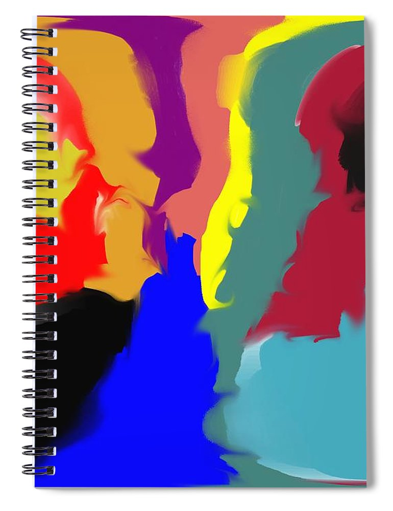 Abstract Spiral Notebook featuring the digital art Two Peas in a Pod by Pharris Art