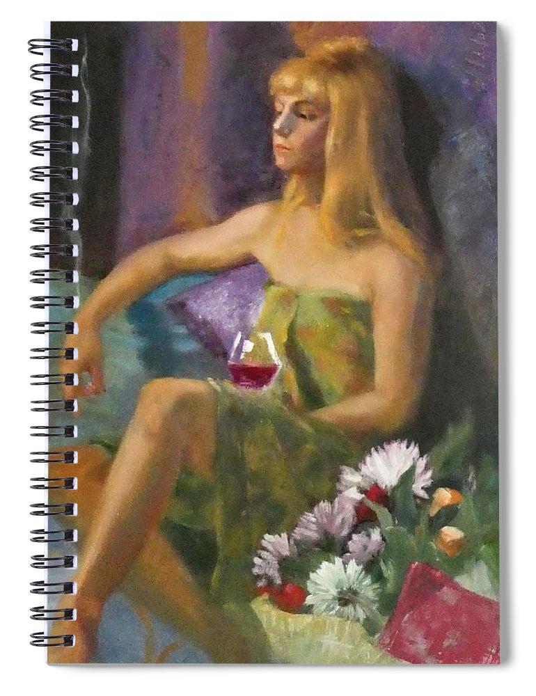 Portrait Spiral Notebook featuring the painting Unloved Flowers by Irena Jablonski