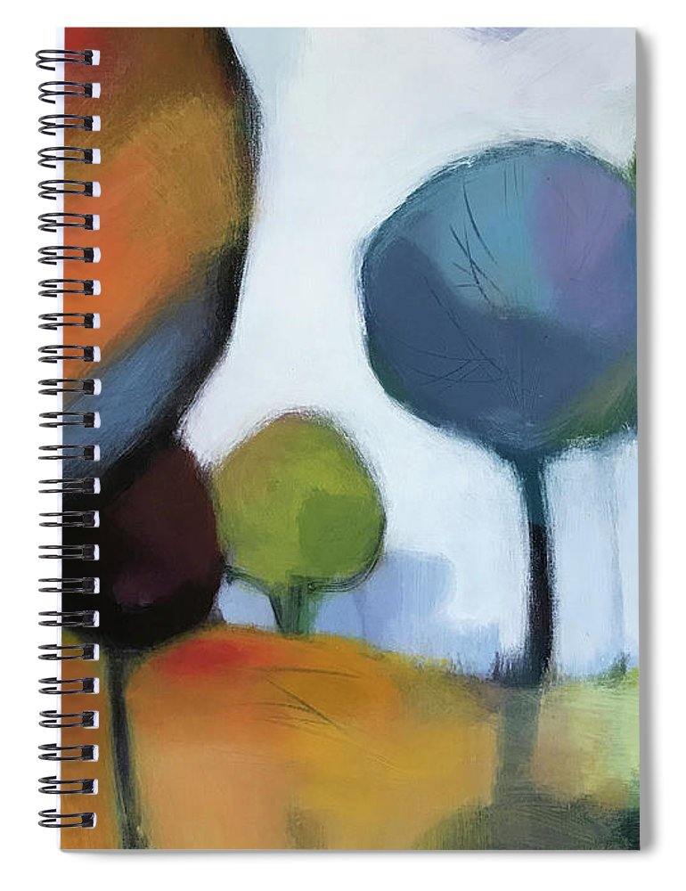 Landscape Spiral Notebook featuring the painting Untitled III by Farhan Abouassali