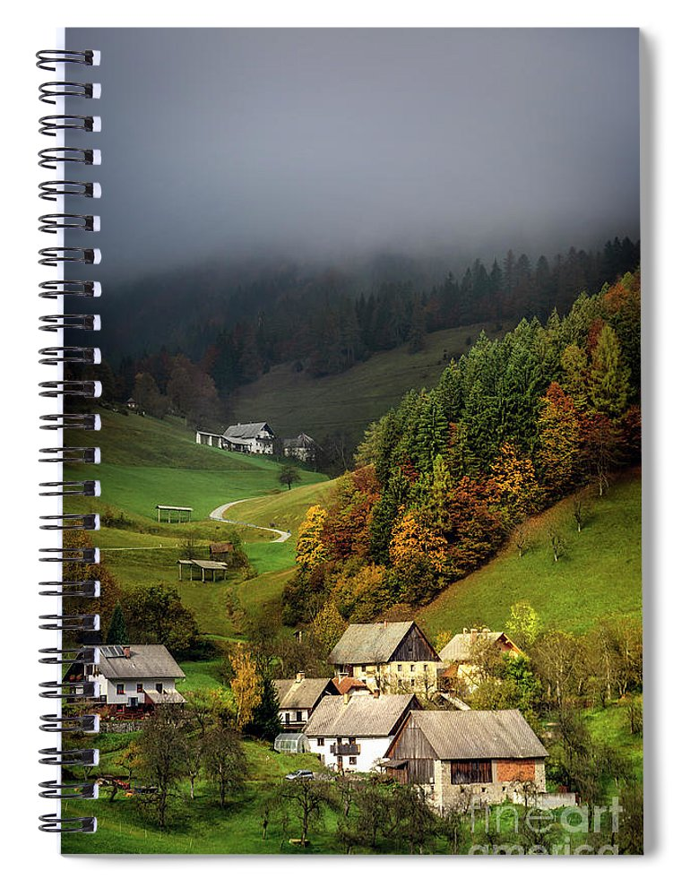Kremsdorf Spiral Notebook featuring the photograph Valley In The Sky by Evelina Kremsdorf