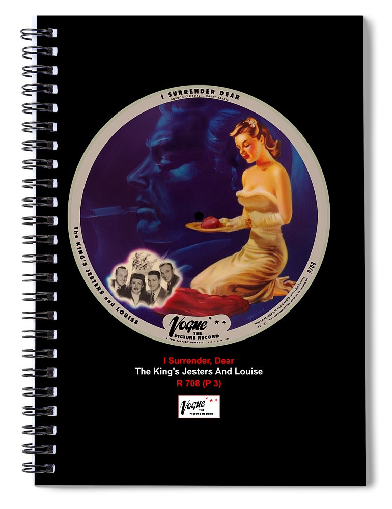 Vogue Picture Record Spiral Notebook featuring the digital art Vogue Record Art - R 708 - P 3 by John Robert Beck