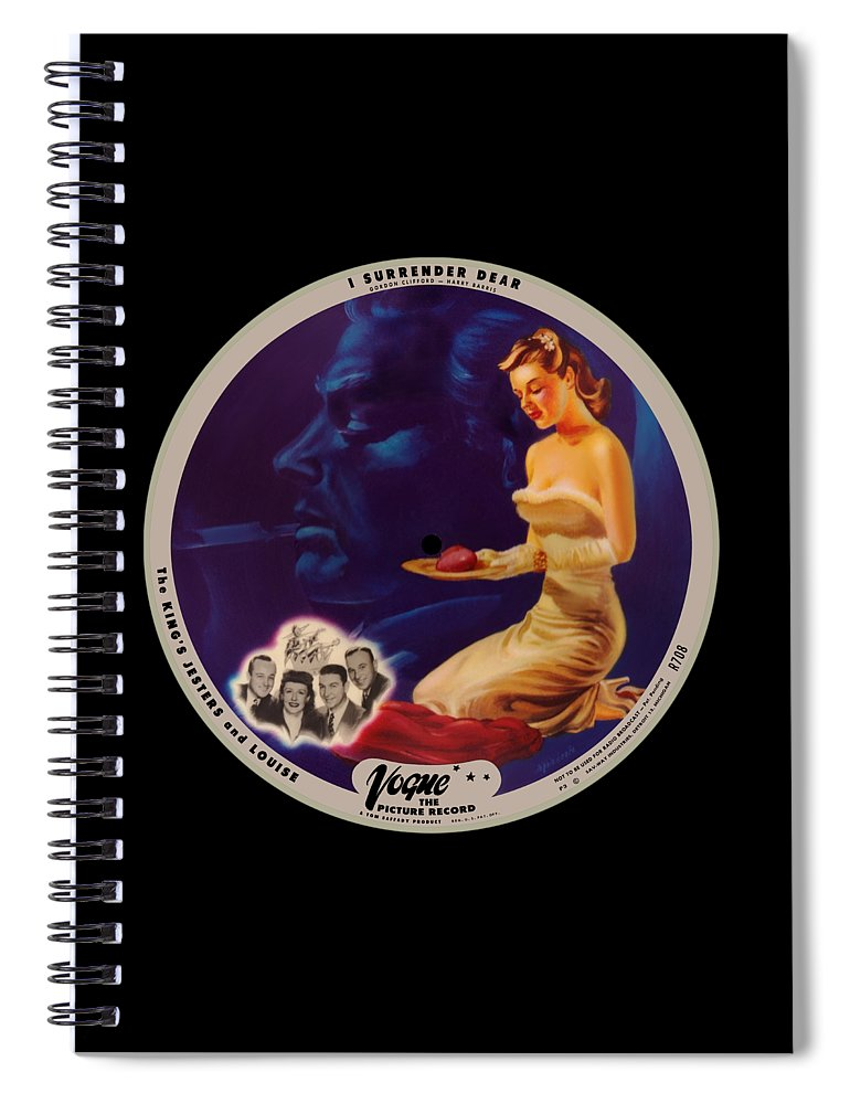 Vogue Picture Record Spiral Notebook featuring the digital art Vogue Record Art - R 708 - P 3 - Square Version by John Robert Beck
