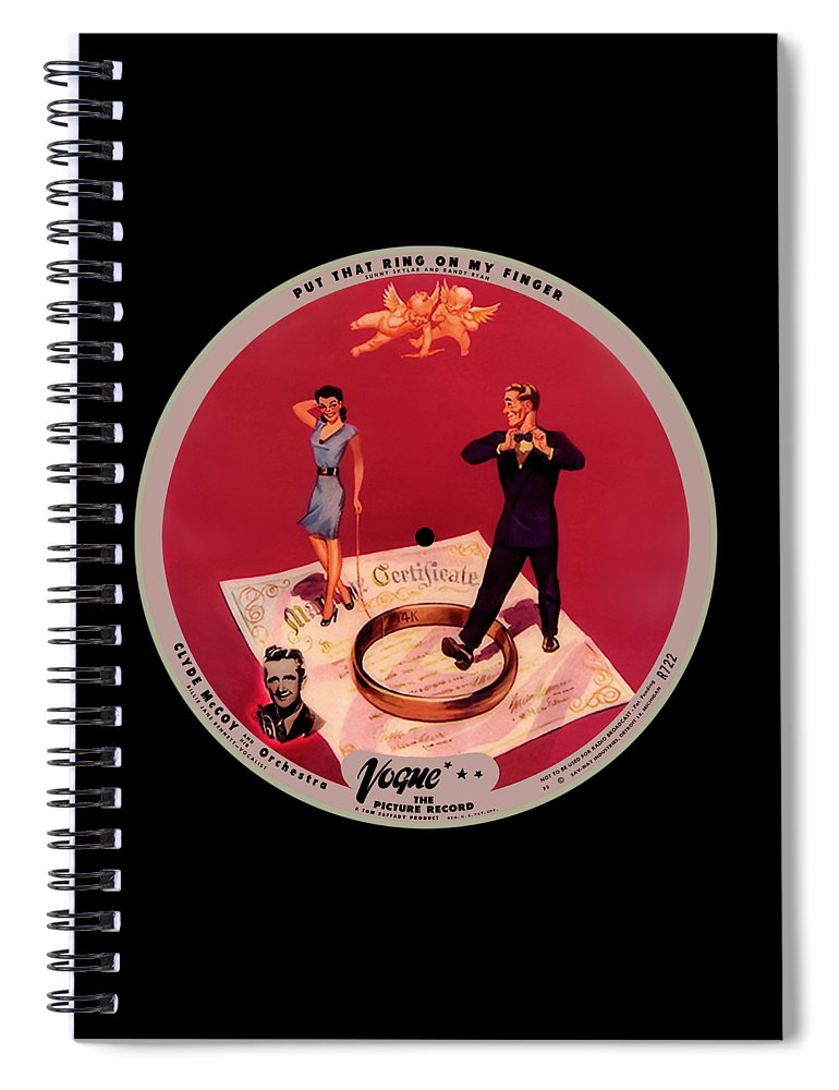 Vogue Picture Record Spiral Notebook featuring the digital art Vogue Record Art - R 722 - P 8 - Square Version by John Robert Beck