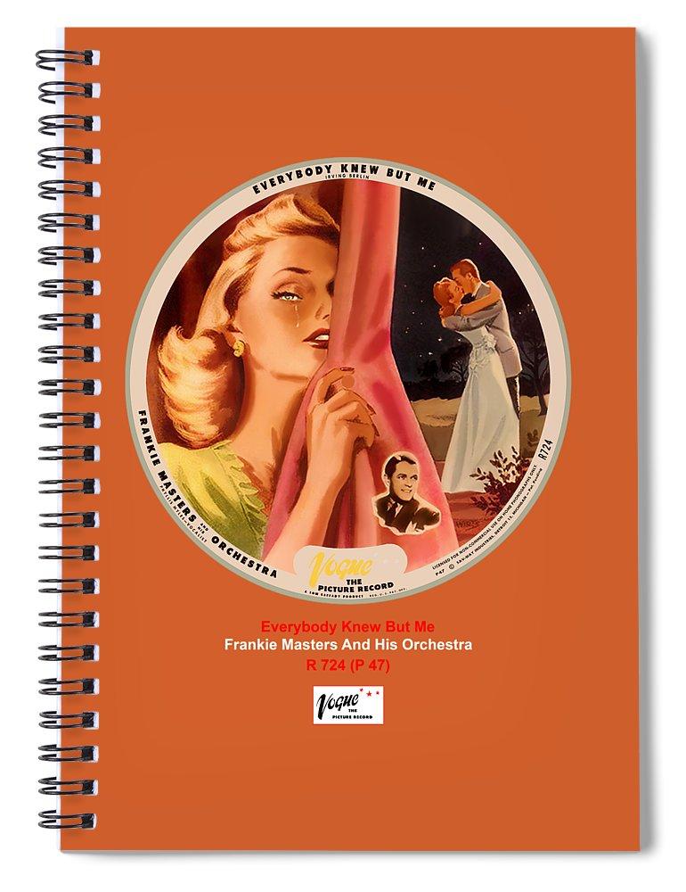 Vogue Picture Record Spiral Notebook featuring the digital art Vogue Record Art - R 724 - P 47 by John Robert Beck
