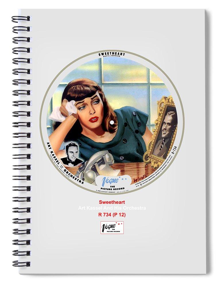 Vogue Picture Record Spiral Notebook featuring the digital art Vogue Record Art - R 734 - P 12 by John Robert Beck