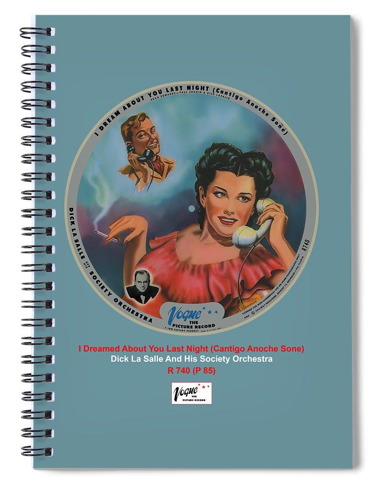 Vogue Picture Record Spiral Notebook featuring the digital art Vogue Record Art - R 740 - P 85 by John Robert Beck