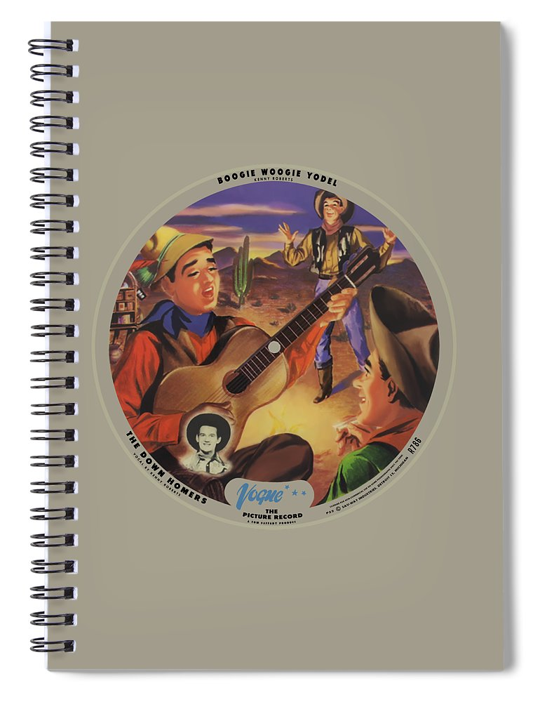 Vogue Picture Record Spiral Notebook featuring the digital art Vogue Record Art - R 786 - P 52 - Square Version by John Robert Beck