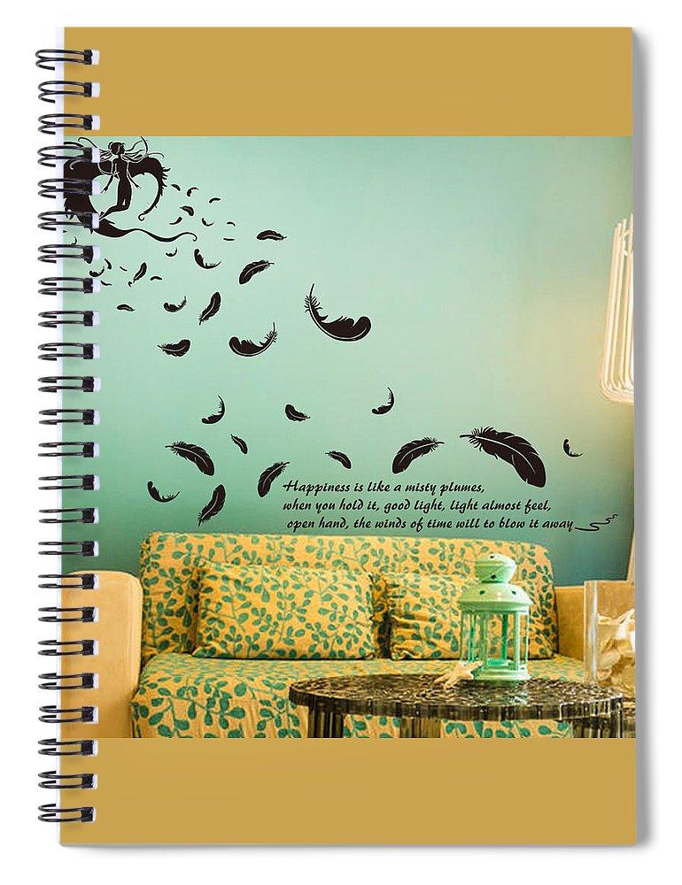 Spiral Notebook featuring the digital art Wall art by Wild