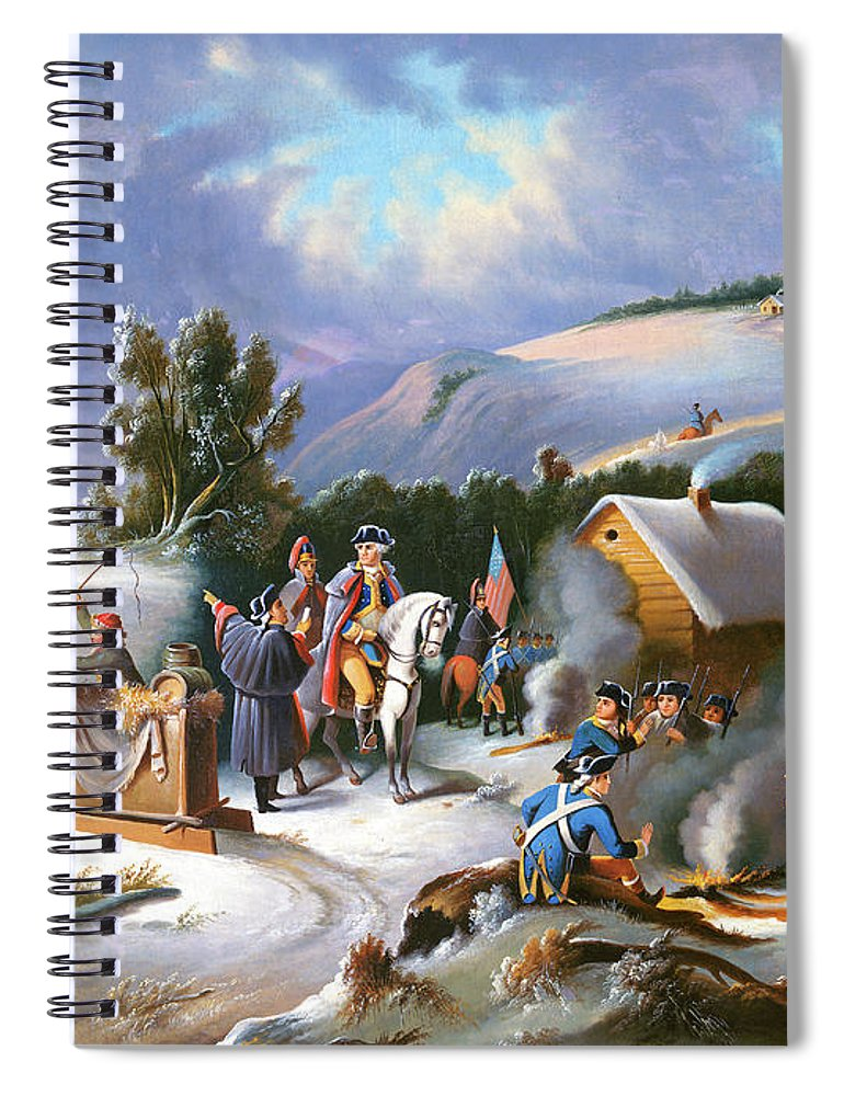 George Washington Spiral Notebook featuring the painting Washington at Valley Forge by Anonymous