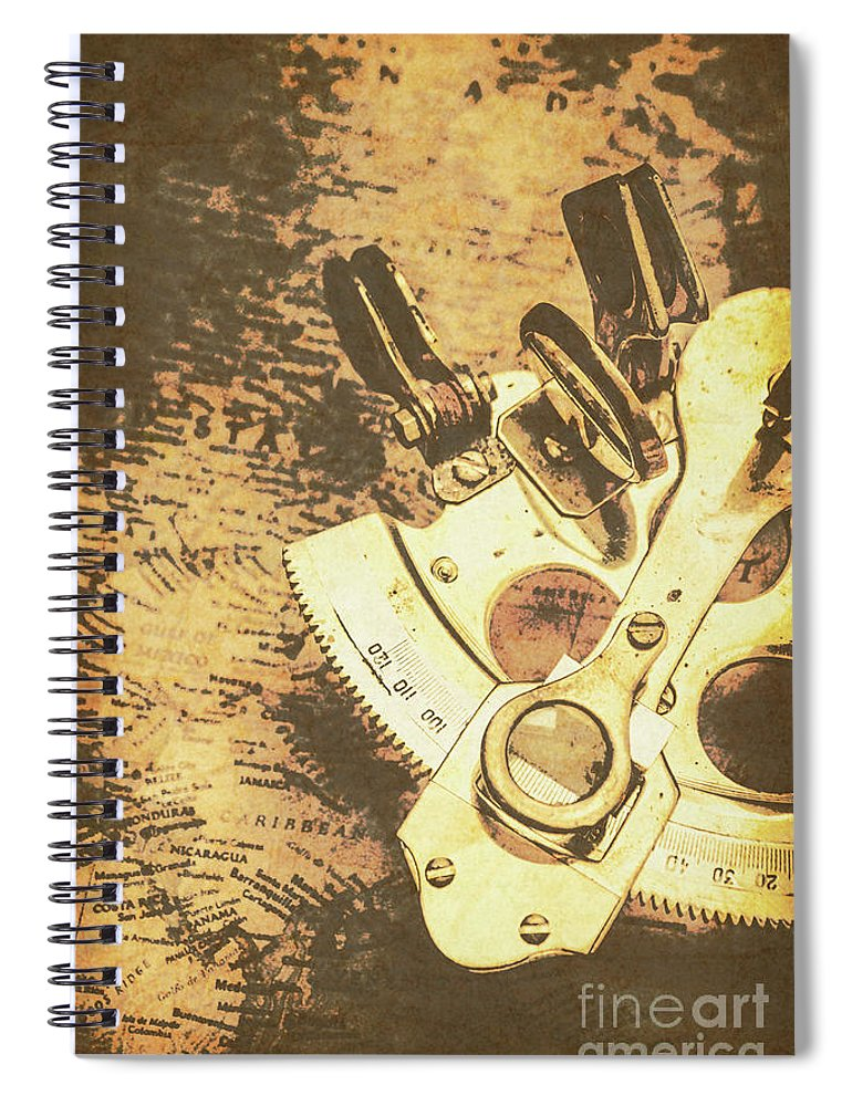 Sextant Spiral Notebook featuring the photograph Wayfarer Waters by Jorgo Photography - Wall Art Gallery