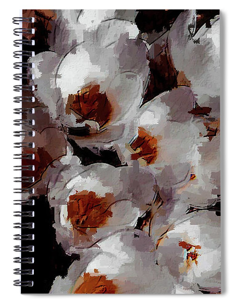 Abstract Spiral Notebook featuring the photograph White Crocus by David Beard