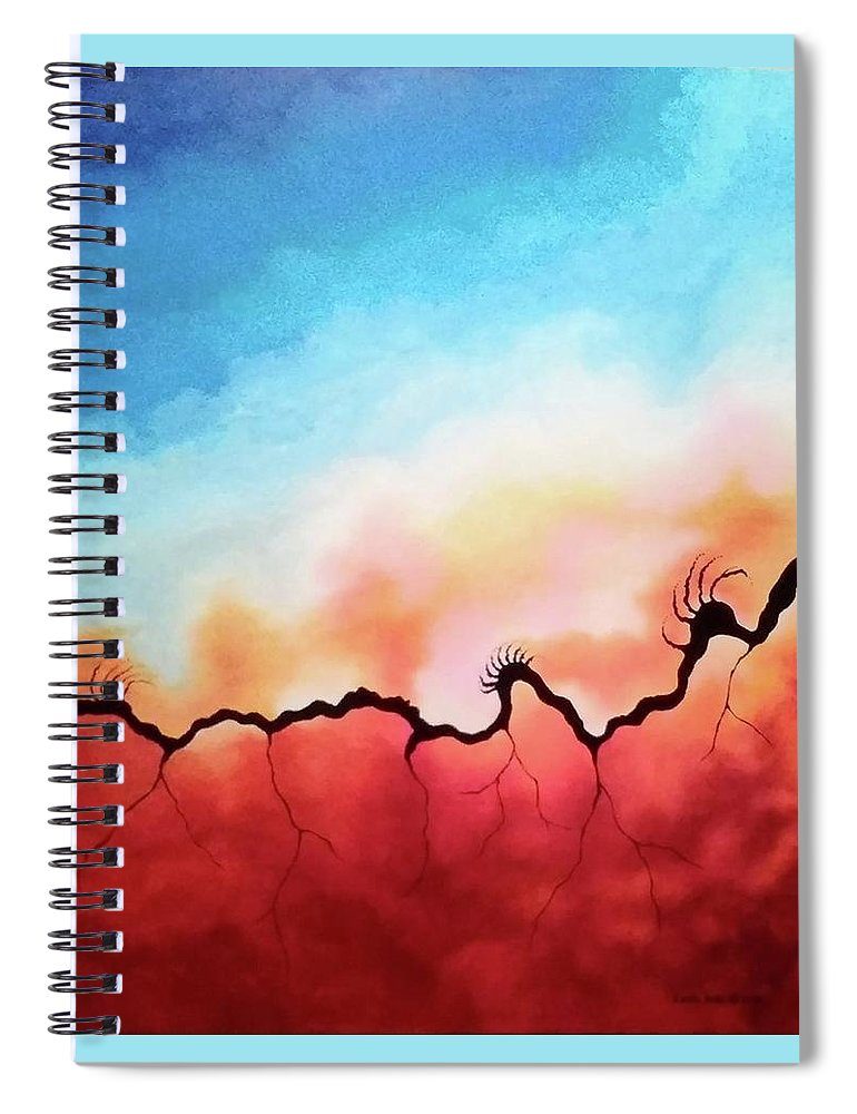 Abstract Spiral Notebook featuring the painting Wicked by Carol Sabo