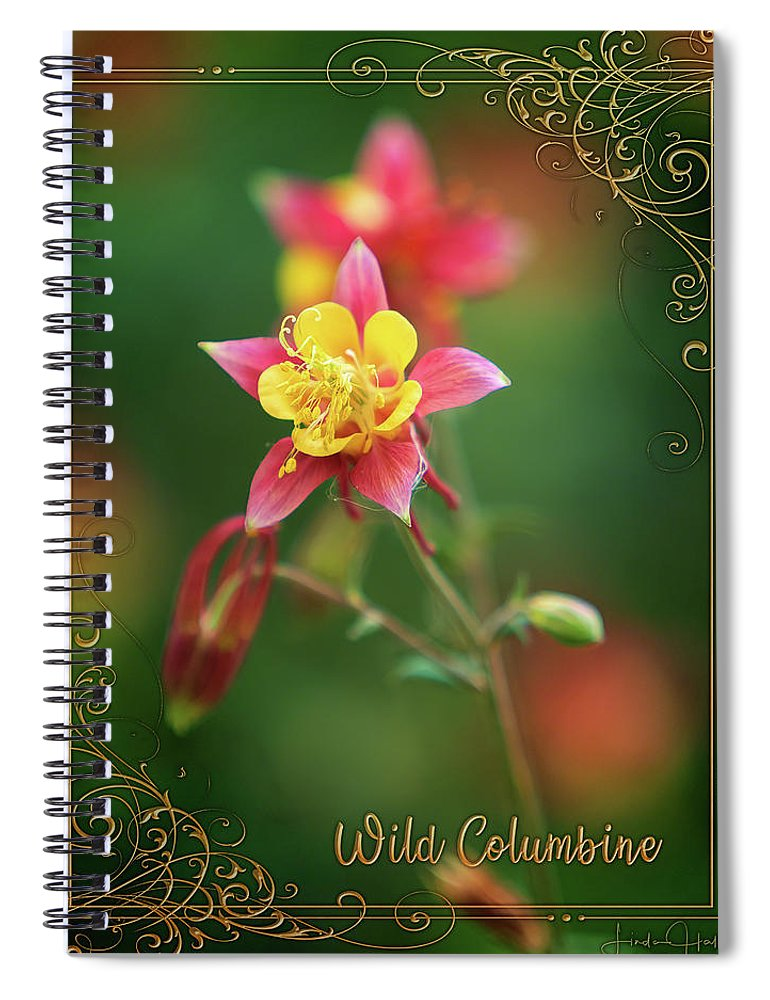 Flowers Spiral Notebook featuring the photograph Wild Columbine by Linda Lee Hall
