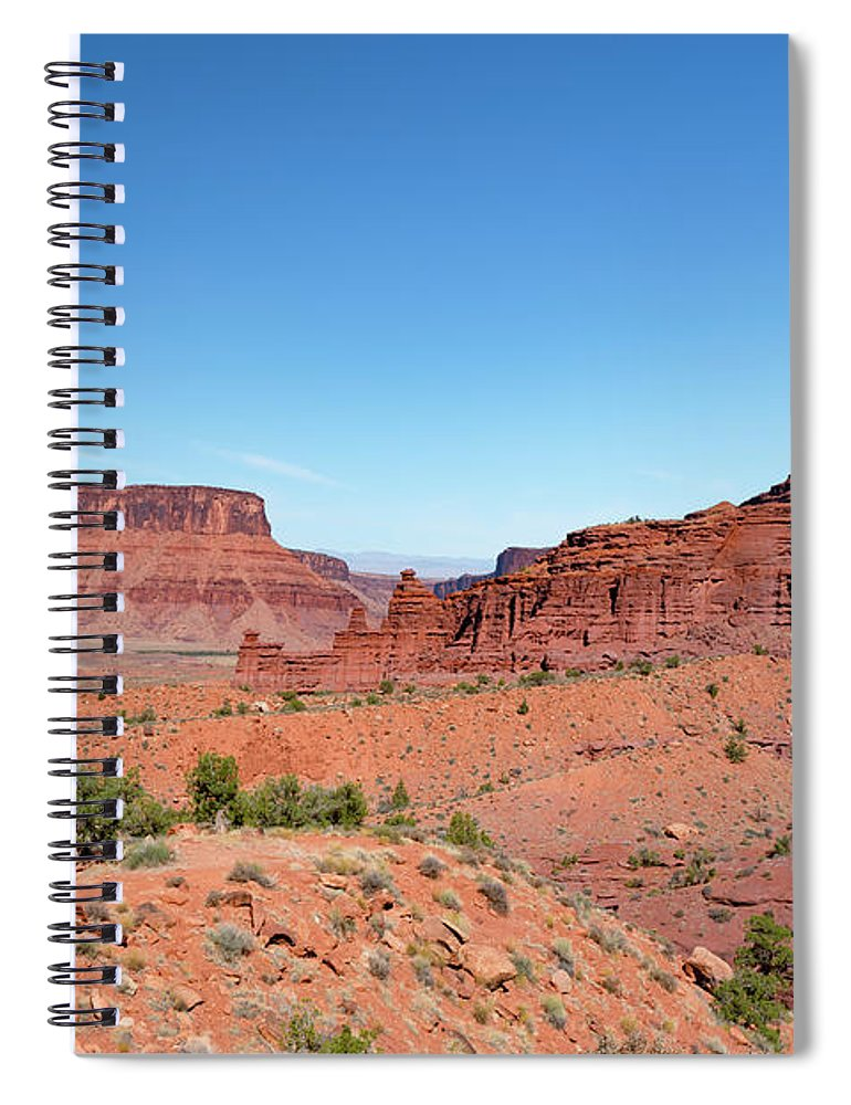 Fisher Towers Spiral Notebook featuring the photograph Wild Utah Landscape by Jim Thompson