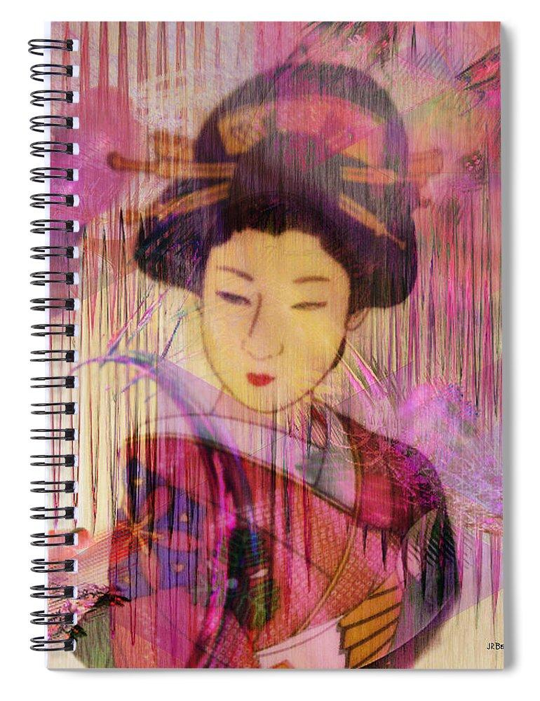 Willow World Spiral Notebook featuring the digital art Willow World by John Robert Beck